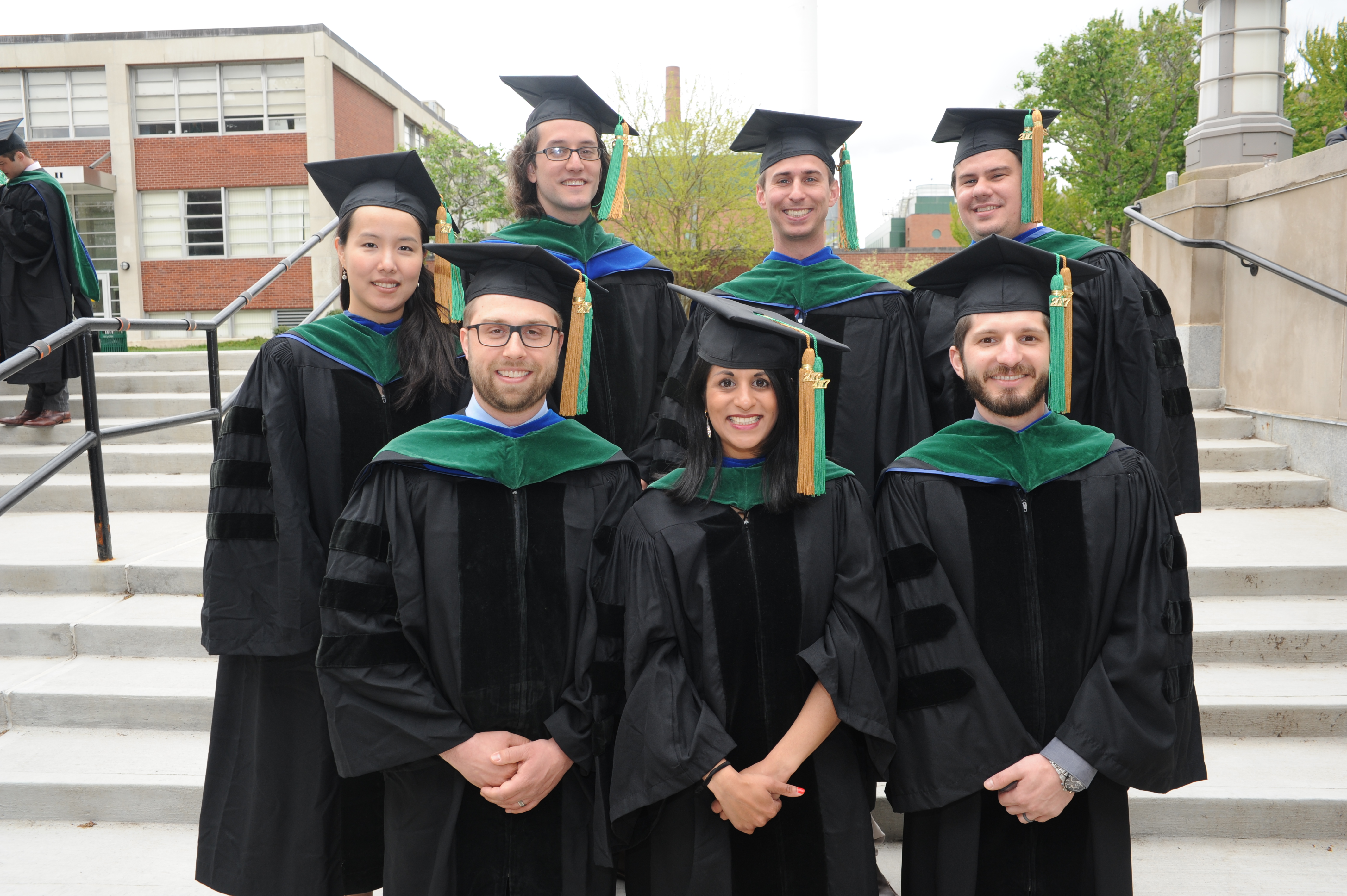 MD PhD Students in caps and gowns