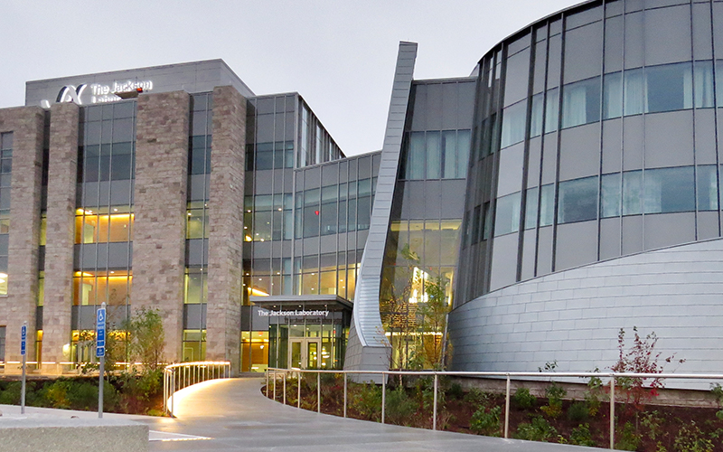 The exterior of the Jackson Lab for Genomic Medicine