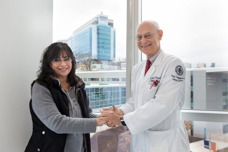 Dr. Jeffrey Wasser with patient Marcia Goglia