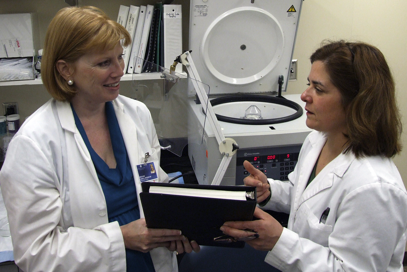 Cheryl Oncken, M.D., M.P.H., with Pam Ferzacca, research assistant