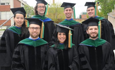 MD/PhD students at graduation