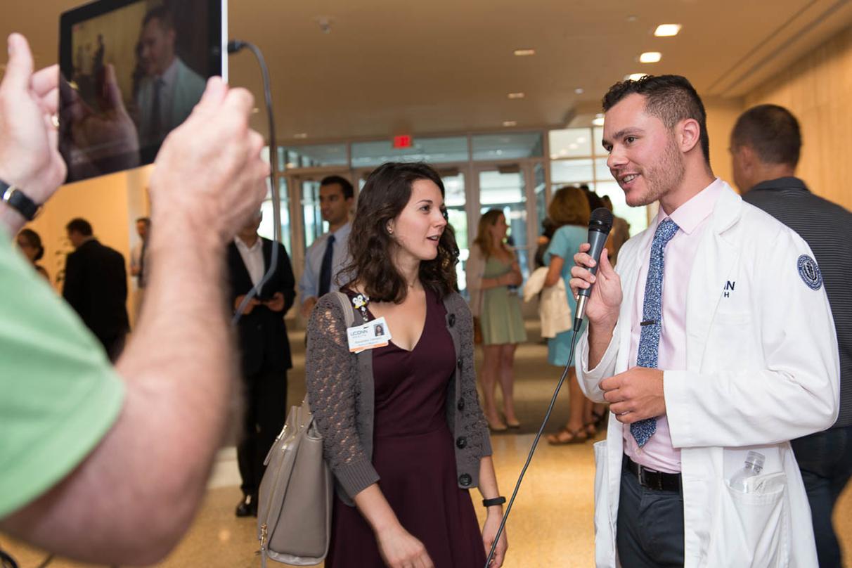 Medical student Adam Bartholomeo hosts White Coat Ceremony Facebook Live