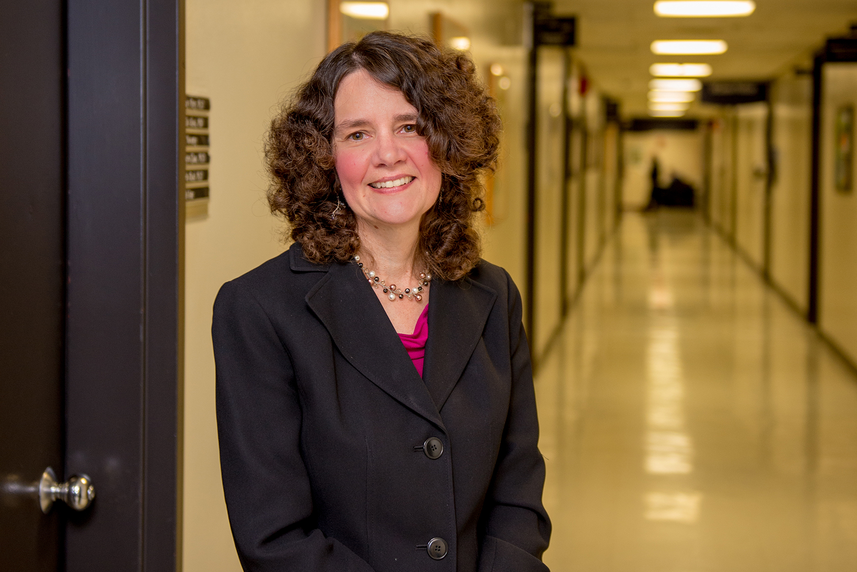Nancy M. Petry, Ph.D., in a hallway